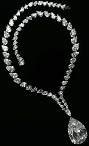 68.09 ct. Taylor-Burton Diamond, Suspended from an Oscar Heyman & Bros. Necklace. Currently Owned by Mouawad.
