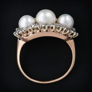 Three Quarter Pearl Ring.