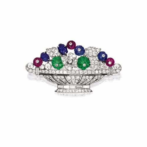 Tiffany Art Deco Gem Set Diamond Brooch.jpg