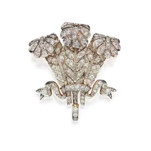 "Tiffany & Co. Prince of Wales ""Feather"" Brooch."