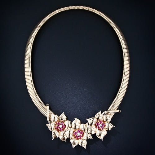 Tiffany Retro Gold and Ruby Necklace.jpg