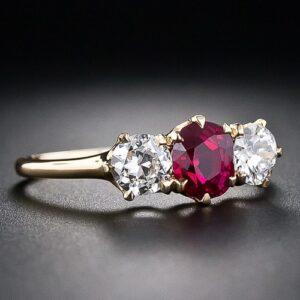 Tiffany & Co. Ruby and Diamond Ring.
