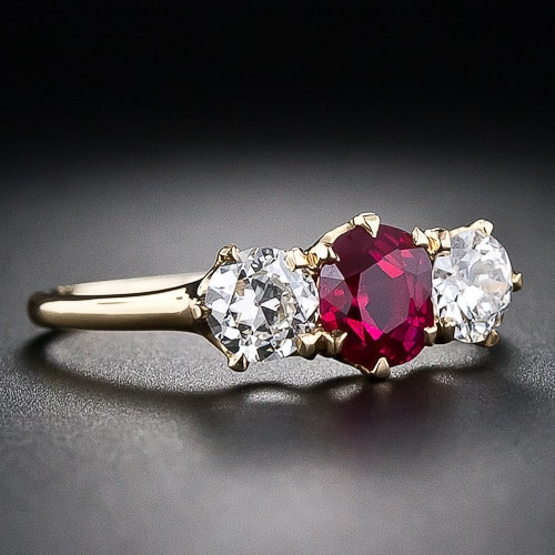 Tiffany & Co. Ruby and Diamond Ring.