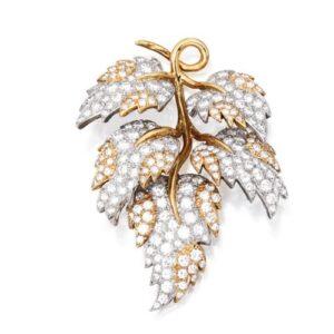 Tiffany & Co., Schlumberger Foliate Diamond Brooch.