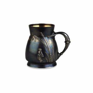 Tiffany Shibuichi Vase. c.1874. Photo © Trustees of the British Museum.