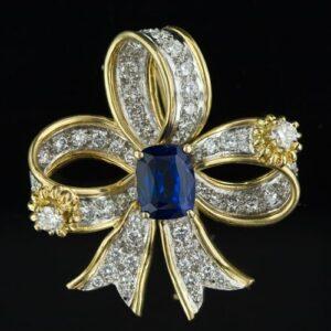Tiffany - Schlumberger Tanzanite and Diamond Brooch.