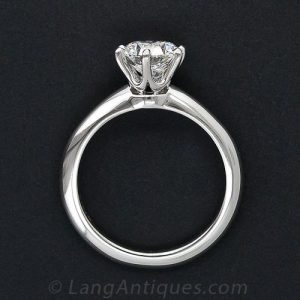 Timeless Tiffany & Co. Diamond Solitaire Engagement Ring.