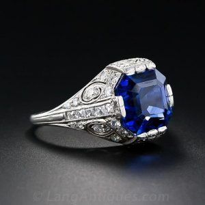 Tiffany & Co. Art Deco Sapphire and Diamond Ring
