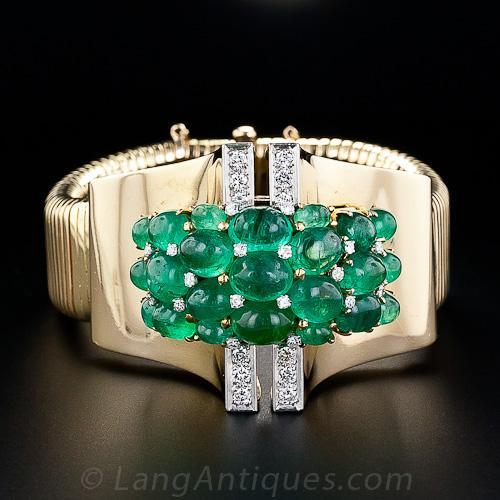 Beautiful Trabert & Hoeffer Mauboussin Emerald Bracelet...