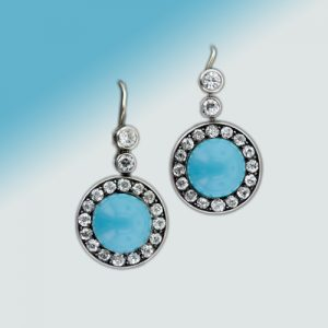 Victorian Turquoise Earrings.
