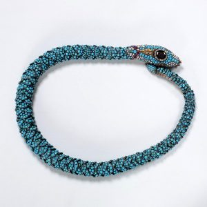 Turquoise Encrusted Snake Necklace. c. 1835-40.