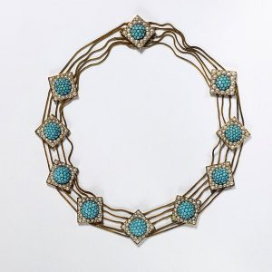 Turquoise and Pearl Necklace c.1820.