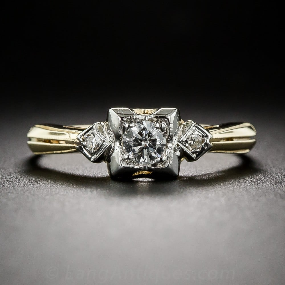 Two Tone Retro 1940s Diamond Ring.jpg
