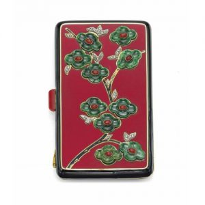 Van Cleef & Arpels Art Deco Red Enamel, Diamond, Nephrite and Cornelian Vanity Case, c.1920s. Photo Courtesy of Christie's.