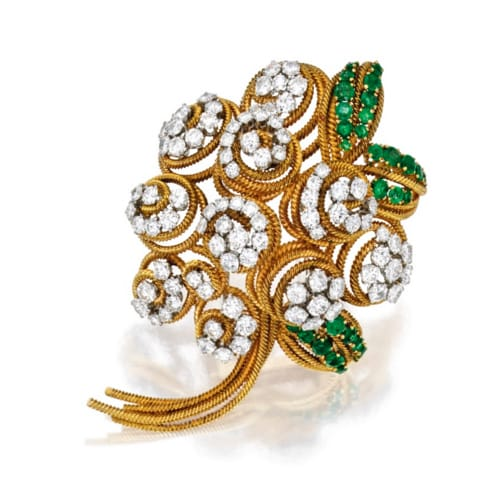 Van Cleef Emerald and Diamond Brooch.jpg