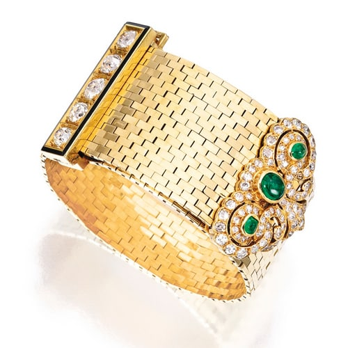 Van Cleef Retro Emerald Diamond Bracelet.jpg
