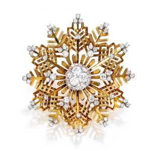 Van Cleef & Arpels Diamond Snowflake Brooch.