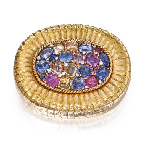 Verdura Multi-Stone Gold Compact. Photo Courtesy of Sotheby's.
