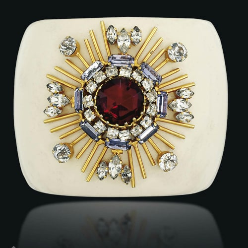 Maltese Cross Motif with Paste Gems, Verdura for Chanel. Photo Courtesy of Christie's.