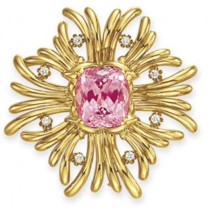 Stylized Maltese Cross with Central Pink Tourmaline, Verdura. Photo Courtesy of Christie's.
