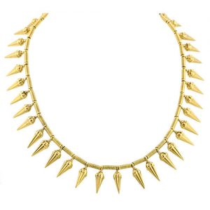 Castellani 15k Yellow Gold Amphora Necklace.