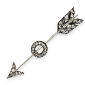Diamond-Set Arrow Brooch c.1900. Photo Courtesy of Bonhams.