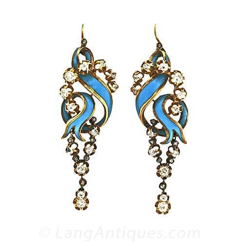 Victorian Blue Enamel Earrings.jpg
