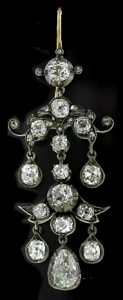 Victorian Diamond Chandelier Earring.