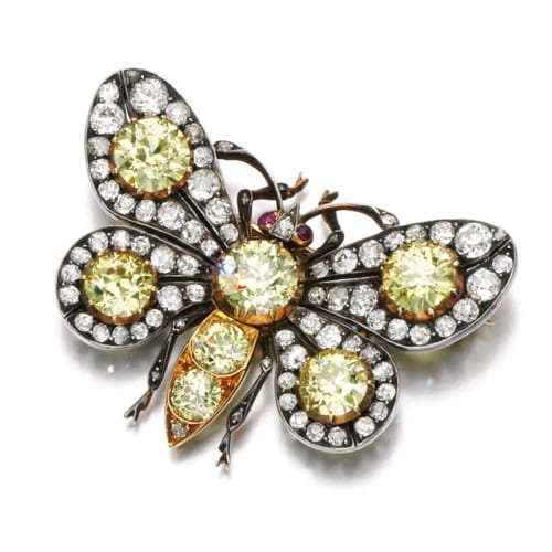Victorian Diamond Ruby Butterfly Brooch.jpg