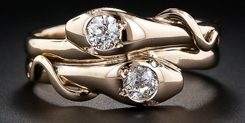 snake ring realistic