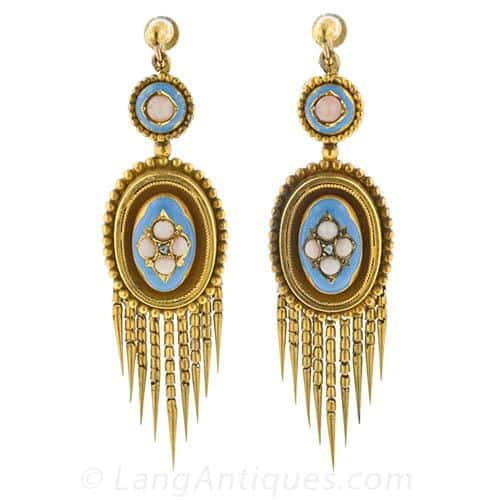Victorian Enamel Fringe Earrings.jpg
