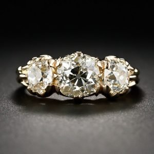 Victorian Three Stone Diamond Engagement Ring. ©