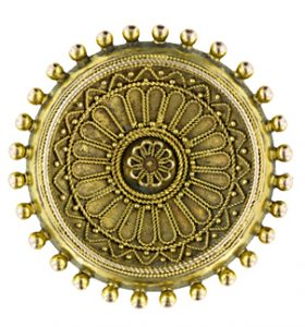 Victorian Etruscan Revival Brooch.