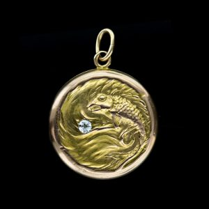 Victorian Fish Motif Gold Locket.