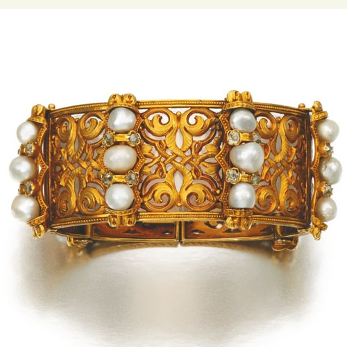 Victorian Gold Pearl Bangle.jpg