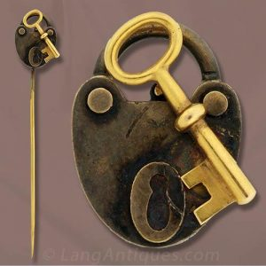 Victorian Lock and Key Motif Stickpin.
