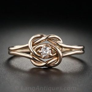 Double Knot Vintage Diamond Ring.