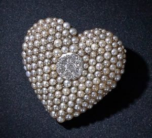 Victorian Seed Pearl and Diamond Heart Pin - Pendant.