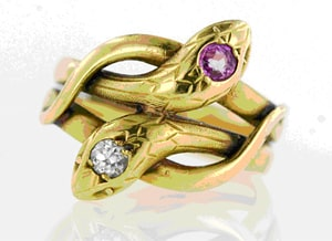 Victorian Ruby Diamond Snake Ring.jpg