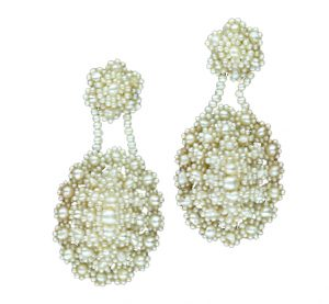 Victorian Seed Pearl Earrings.