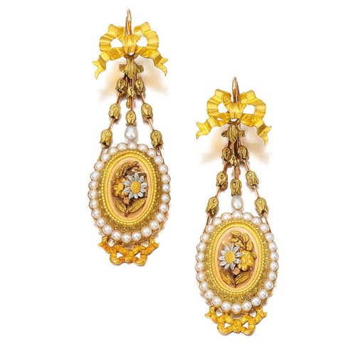 Victorian Seed Pearl Pendant Earrings.jpg