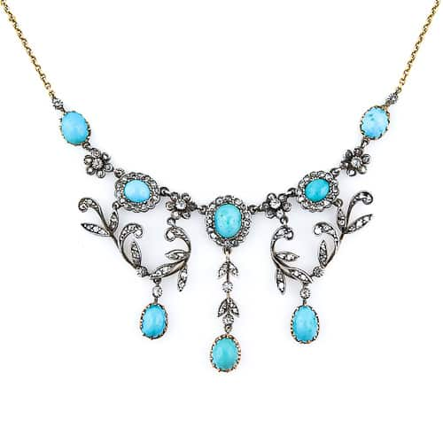 Victorian Turquoise Diamond Necklace.jpg