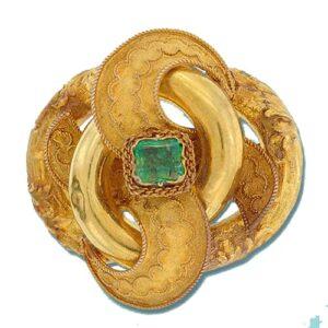 Victorian Algerian Knot Motif Brooch.
