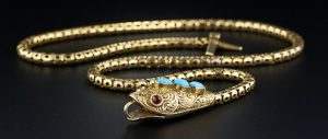 Victorian Articulated Snake Necklace.