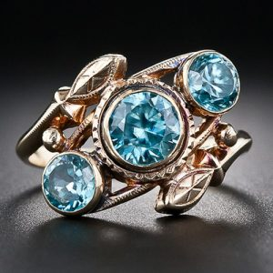 Vintage Blue Zircon RIng.