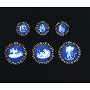 Wedgwood Cameos in Cut Steel Frames c.1785-1800.