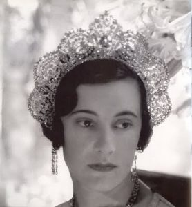 Westminster Tiara with the Arcot Diamonds.