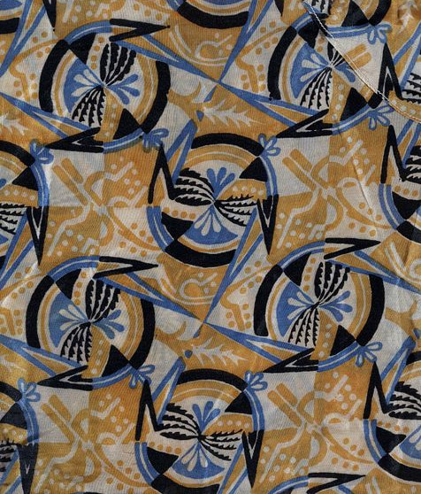 Fabric Designed and Produced by the Wiener Werkstätte c.1910-1920. Photo Courtesy of the Victoria & Albert Museum Collection.
