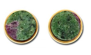 Thulite (Green) with Ruby (Red)