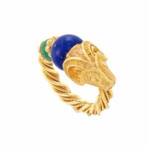 Zolotas Ram's Head Ring.